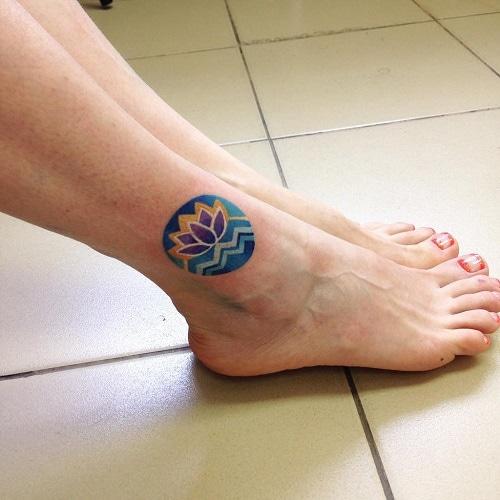 Circular-lotus-flower-tattoo