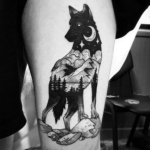 Geometric-wolf-tattoos-1