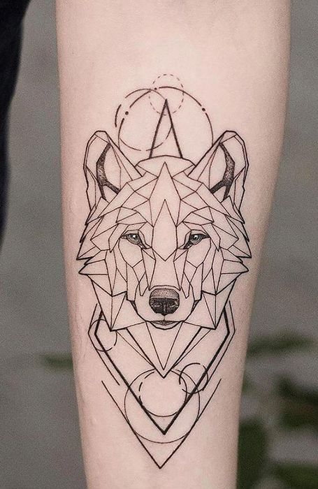 Geometric-wolf-tattoos