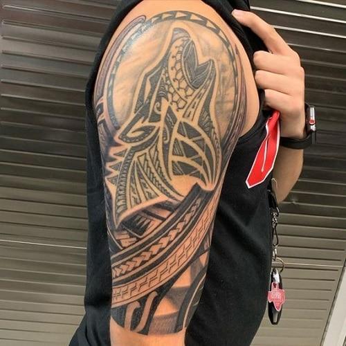 Tribal-wolf-tattoos