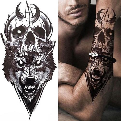 Wolf-forearm-tattoos